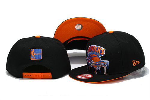 New York Knicks Black Snapback Hat YS 3